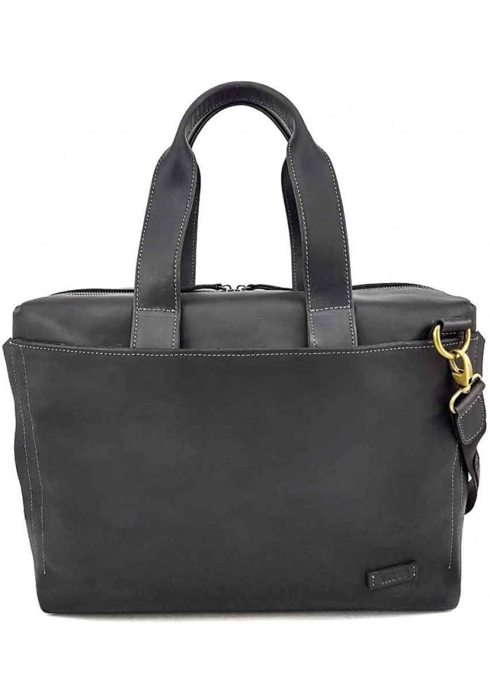 Фирменная мужская сумка Vatto черная матовая