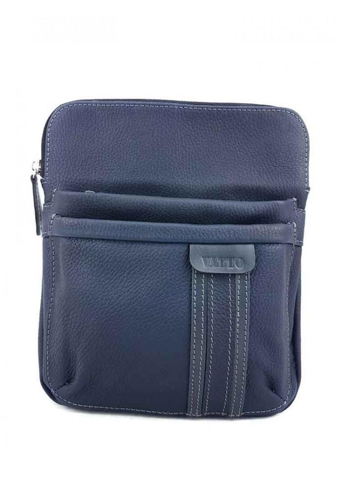 Компактная сумочка на плечо VATTO синяя матовая