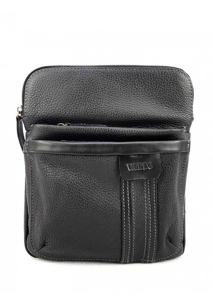 Мужская сумочка на плечо VATTO черная матовая