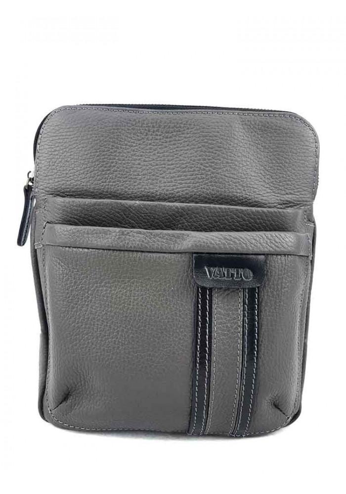 Мужская сумка с ремнем на плечо VATTO серая
