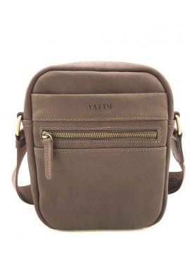 Фото Коричневая сумка на плечо мужская кожаная Vatto с ручкой