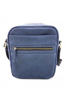 Фото Синяя сумка на плечо мужская кожаная Vatto с ручкой