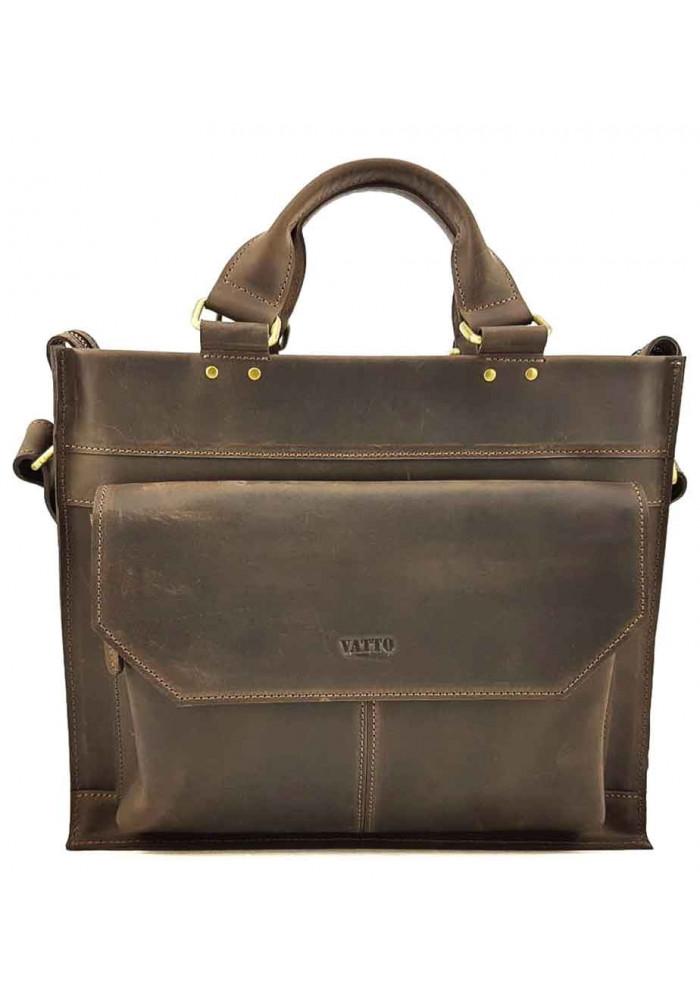 Мужской кожаный портфель модерн VATTO коричневый