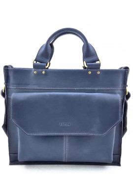 Фото Синий кожаный портфель для мужчины VATTO