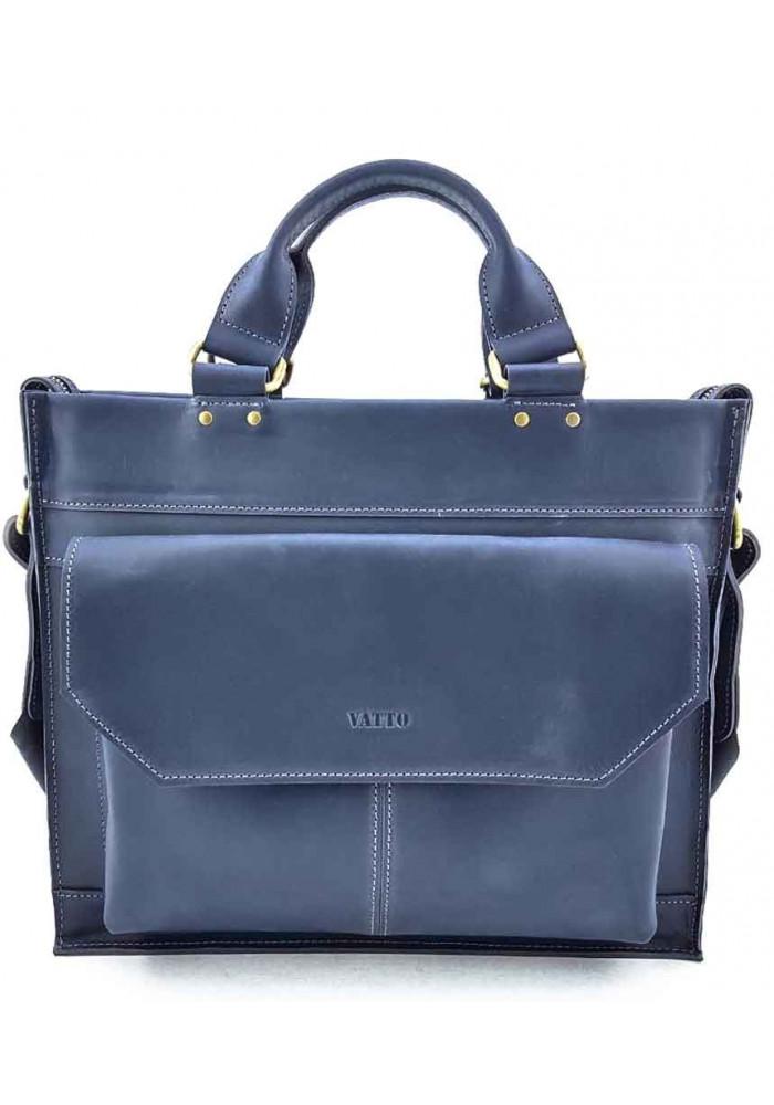 Синий кожаный портфель для мужчины VATTO