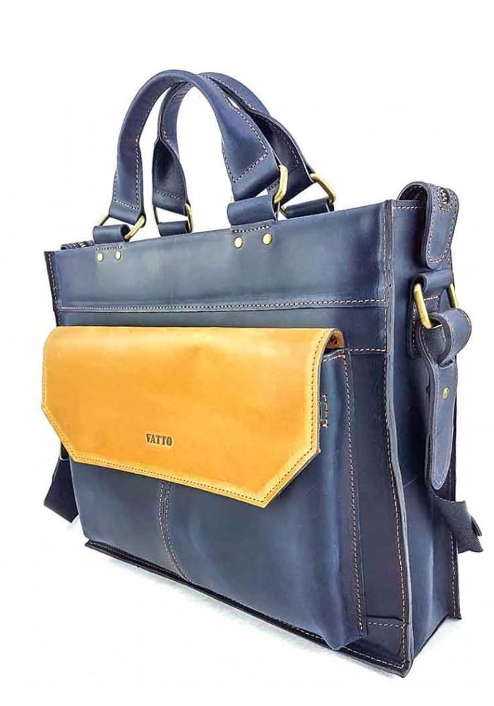 b9a370c1b4f9 ... Сине-желтый кожаный портфель VATTO, фото №2 - интернет магазин  stunner.com ...