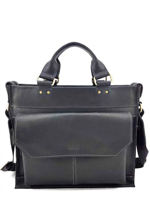 Черный мужской портфель из кожи VATTO