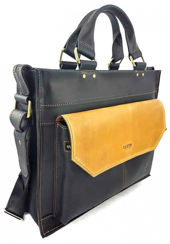 d028e9195dc4 ... Черно-желтый мужской портфель из кожи VATTO, фото №2 - интернет магазин  stunner ...