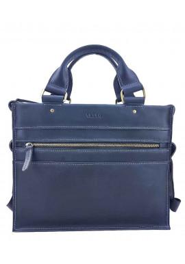 Фото Кожаный мужской мини-портфель VATTO синий