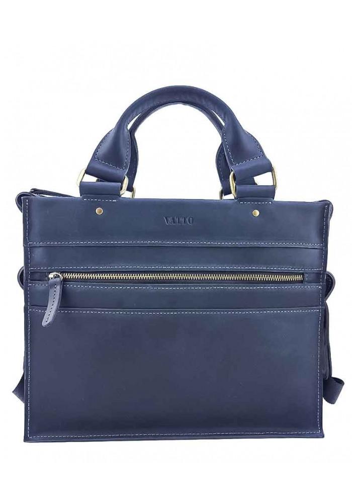 Кожаный мужской мини-портфель VATTO синий