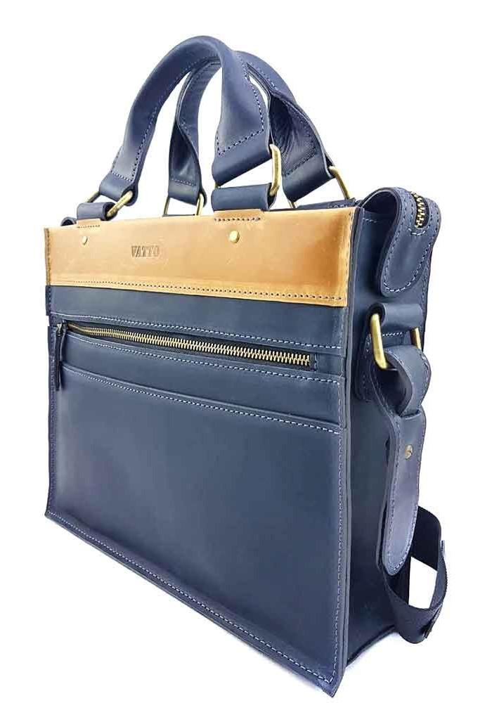 5180140d74e5 Кожаный мужской мини-портфель VATTO с желтой вставкой, фото №2 - интернет  магазин ...