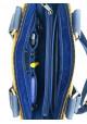 Кожаный мужской мини-портфель VATTO с желтой вставкой