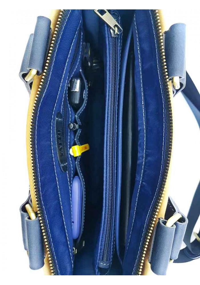 3e2d7ae2ac84 ... Кожаный мужской мини-портфель VATTO с желтой вставкой, фото №7 -  интернет магазин