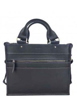 Фото Черный мужской мини-портфель из кожи VATTO