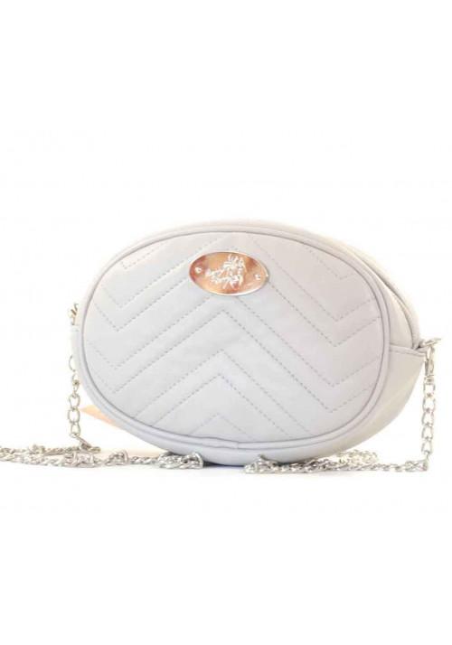 Светло-серая женская сумка на пояс Betty Pretty