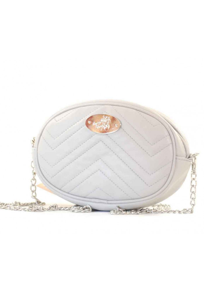 Фото Светло-серая женская сумка на пояс Betty Pretty