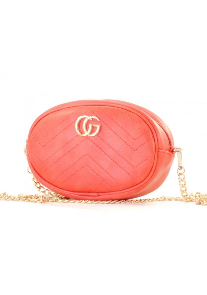 Красная женская сумка на пояс Betty Pretty