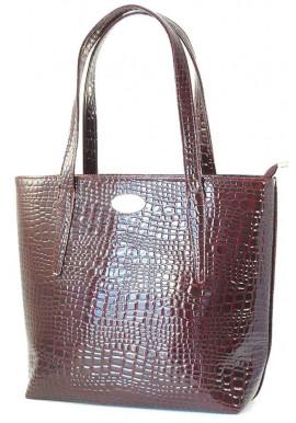 Фото Лаковая бордовая большая женская сумка Betty Pretty