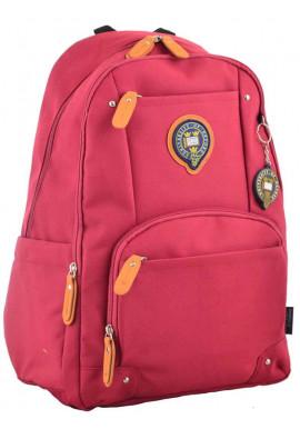 Фото Студенческий бордовый рюкзак YES Oxford OX 347