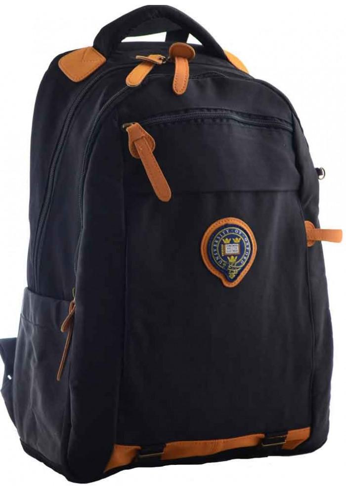 Темно-синий рюкзак для ВУЗа YES Oxford OX 349