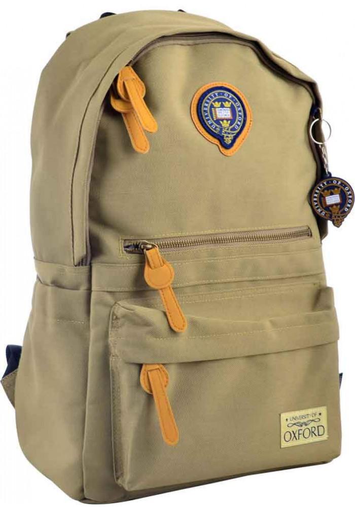 Молодежный рюкзак цвета хаки YES Oxford OX 402