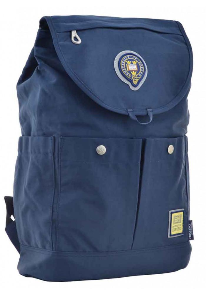 Рюкзак синего цвета из текстиля YES Oxford OX 414