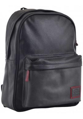 Черный городской рюкзак для молодежи YES Infinity ST-16 Deep Black
