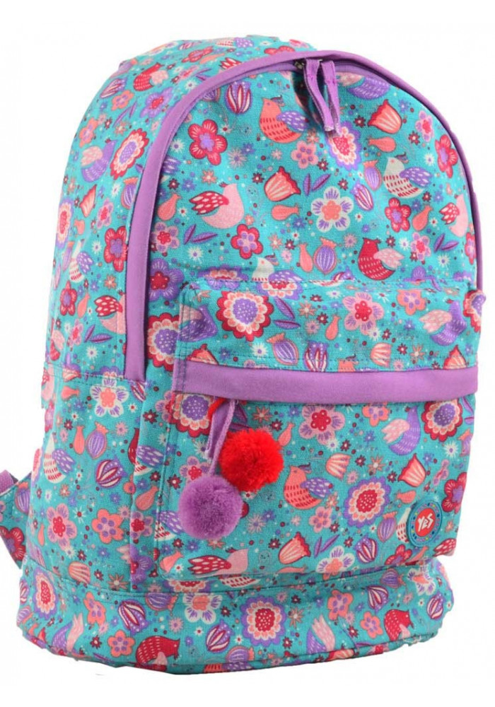 Бирюзовый текстильный рюкзак YES ST-33 Dreamy