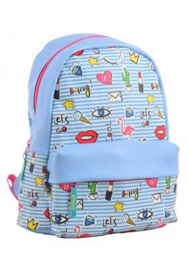 Фото Голубой молодежный рюкзак из экокожи YES Fancy ST-28 Cool