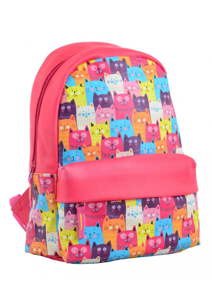 Красный небольшой рюкзак с котами YES Fancy ST-28 Funny Cats