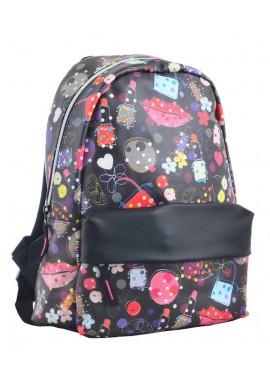 Фото Черный молодежный рюкзак Fashion YES Fancy ST-28 Modern