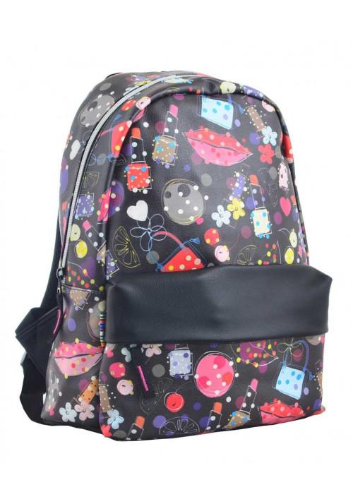 Черный молодежный рюкзак Fashion YES Fancy ST-28 Modern