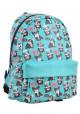 Рюкзак бирюзового цвета с собачками YES Fancy ST-28 Okey Dokey - интернет магазин stunner.com.ua