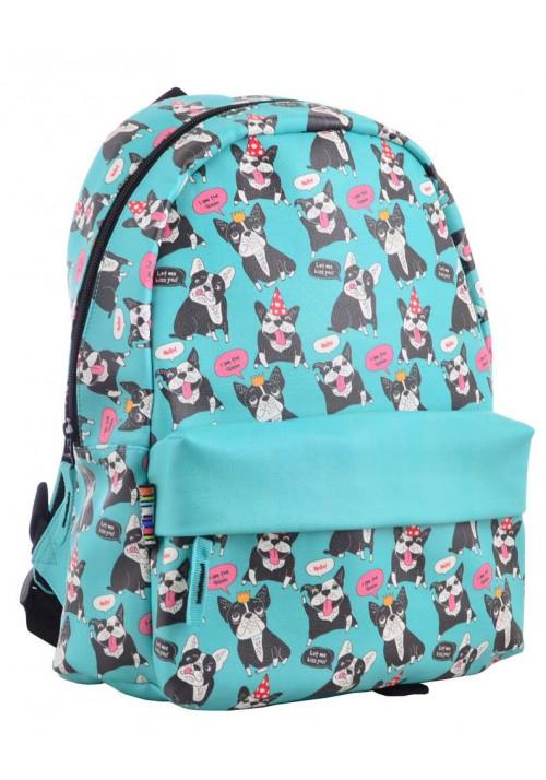 Рюкзак бирюзового цвета с собачками YES Fancy ST-28 Okey Dokey