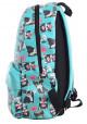 Рюкзак бирюзового цвета с собачками YES Fancy ST-28 Okey Dokey, фото №3 - интернет магазин stunner.com.ua