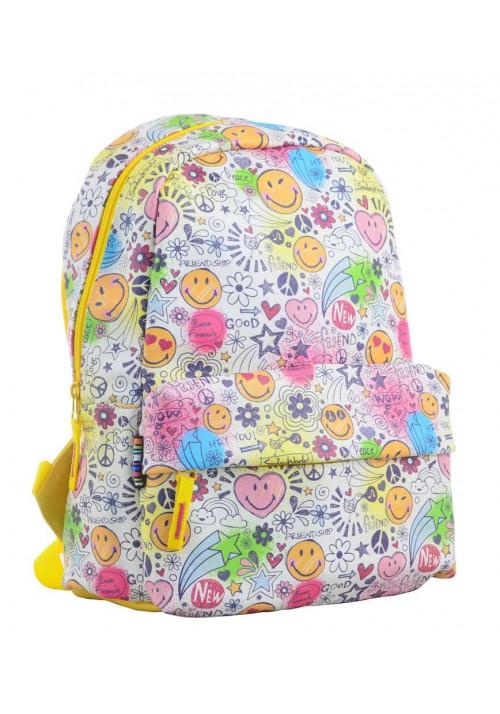 Желтый летний позитивный рюкзак YES Fancy ST-28 Smile