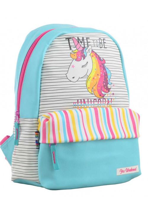 Рюкзак на лето с нежным принтом YES Fancy ST-28 Unicorn