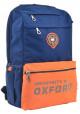 Синий рюкзак с оранжевым карманом YES OX 282