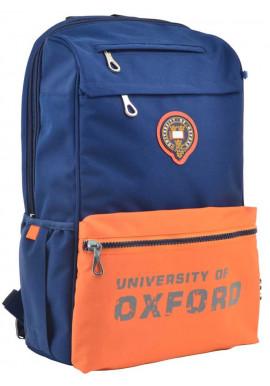 Фото Синий рюкзак с оранжевым карманом YES OX 282