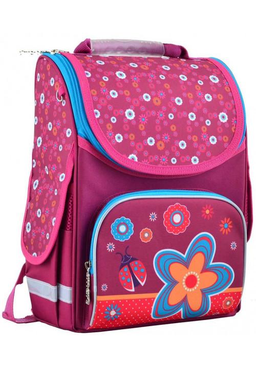Ранец школьный для девочки SMART PG-11 Flowers Red
