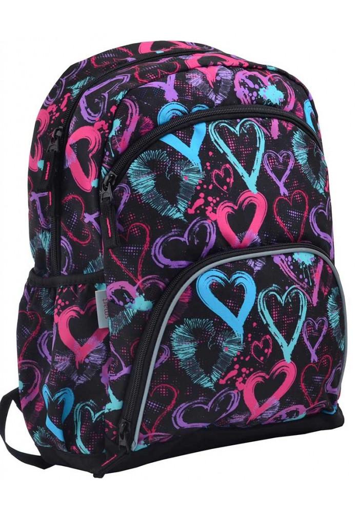 Подростковый рюкзак с сердечками SMART SG-21 Warmth