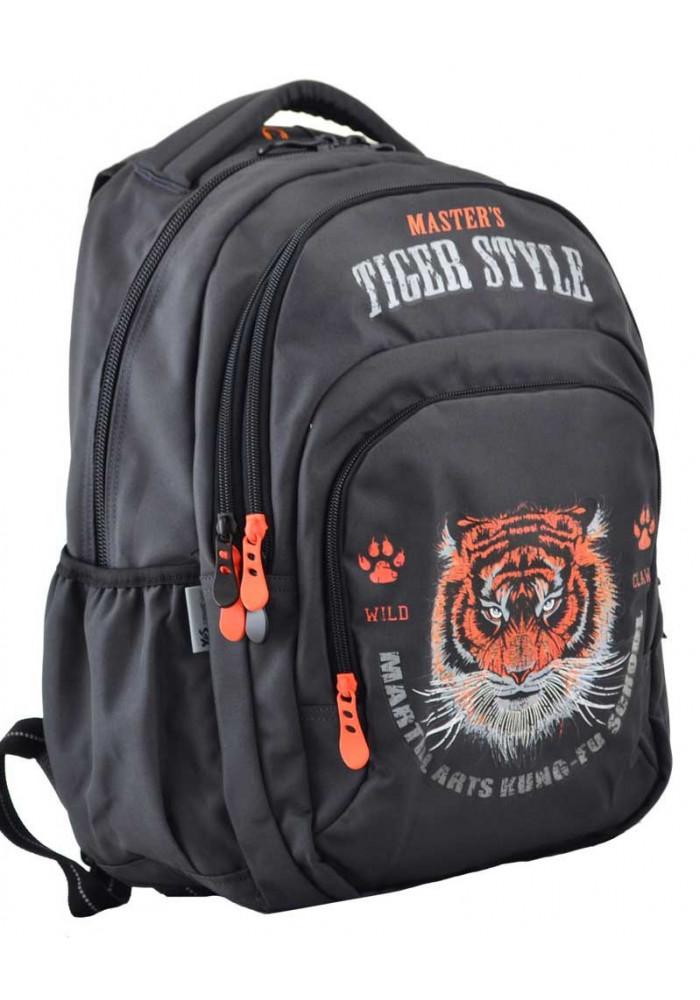 Черный рюкзак с тигром YES T-53 Tiger