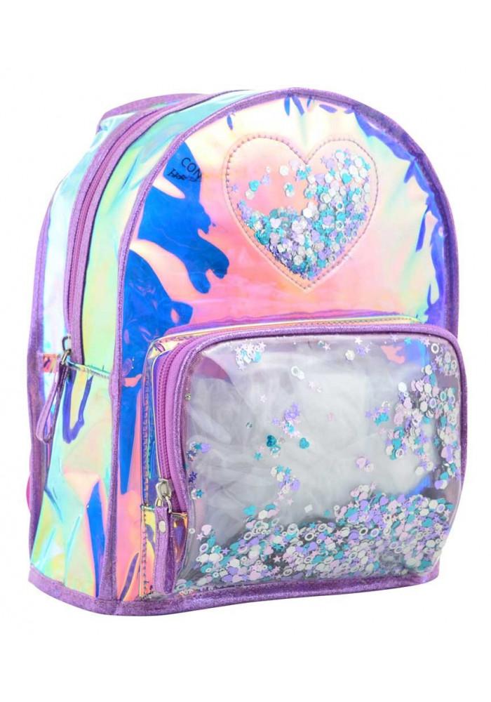 Женский рюкзак с блеском YES ST-20 Glowing Heart