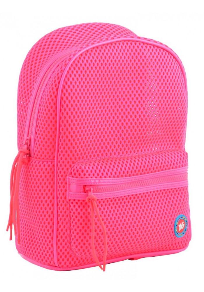 Розовый летний женский рюкзак в сетку YES ST-20 Hot pink