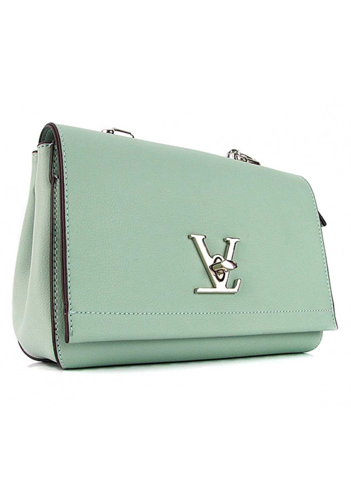Мятная женская сумочка-клатч 0053