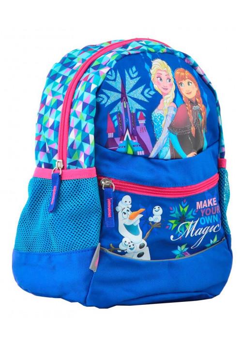 Синий детский рюкзачок для девочки 1 Вересня K-20 Frozen