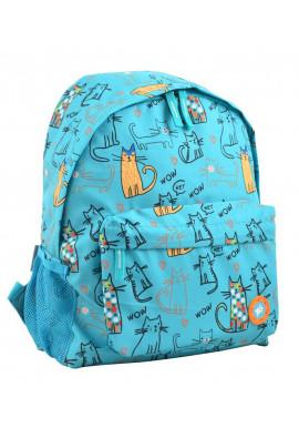Фото Женский бирюзовый рюкзак с котами YES ST-33 PUSSY