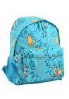 Женский бирюзовый рюкзак с котами YES ST-33 PUSSY