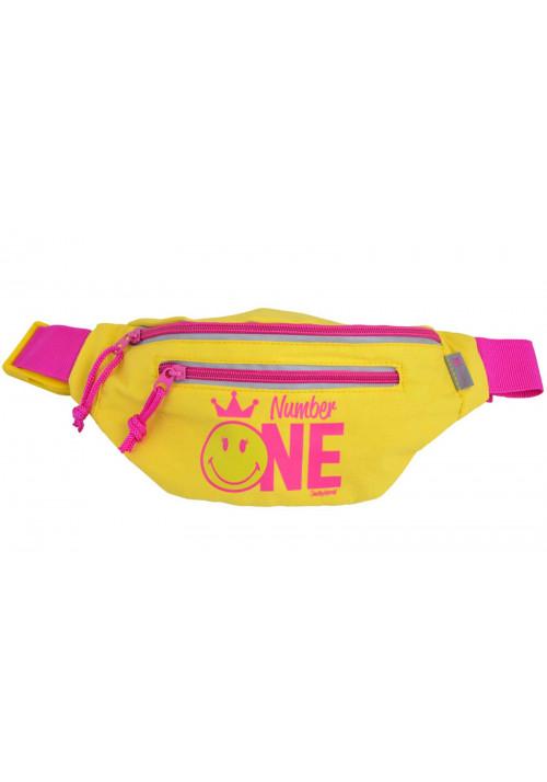 Яркая желтая сумка на пояс YES SP-11 Number One