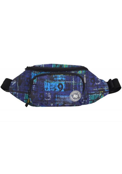 Модная синяя сумка на пояс YES SP-12 Way